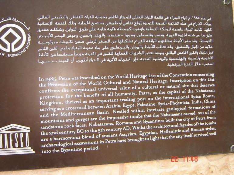 Petra information - Amman