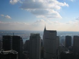 You can see the Chrysler Building and the Empire State Building on this side., Kimberly D - December 2007