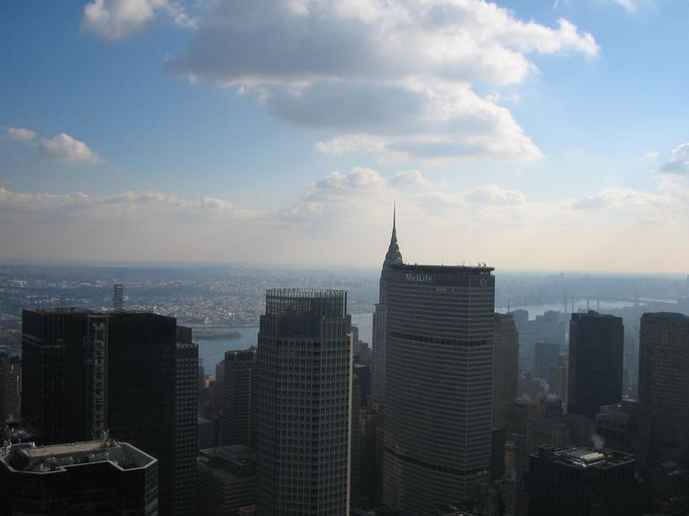 View from the front of the Top of the Rock - New York City