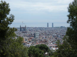view from park guell , Piggie - April 2012