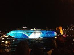 Circular Quay during VIVID Sydney, Cat - December 2013