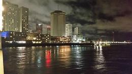 View of New Orleans at night from the water , Theresa - January 2017