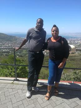 Eddie and Nancy Mukhethoni at Table mountain , Eddie M - October 2017