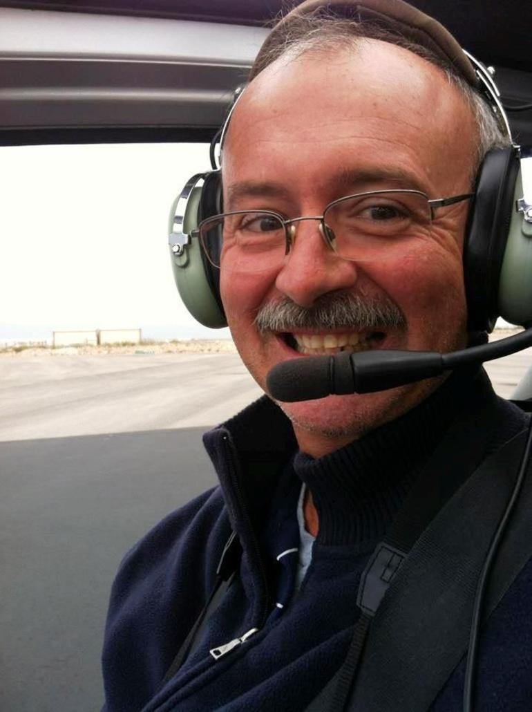 067 One happy helicopter passenger - Las Vegas