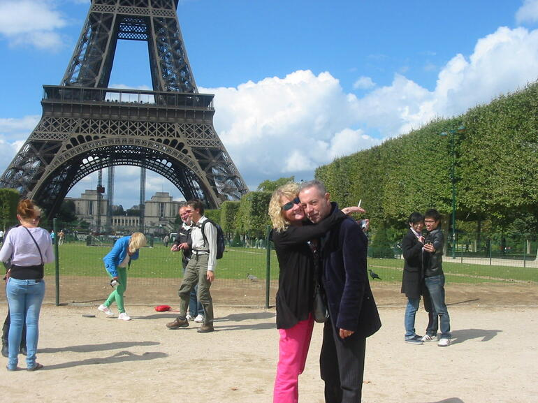 At the foot of the Eiffel Tower - Paris