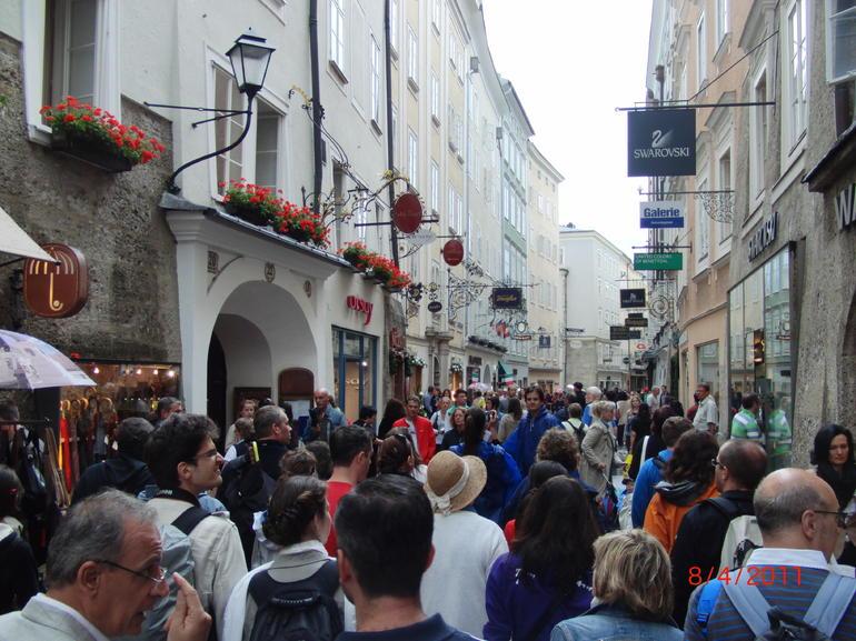 Busy Salzburg street - Vienna