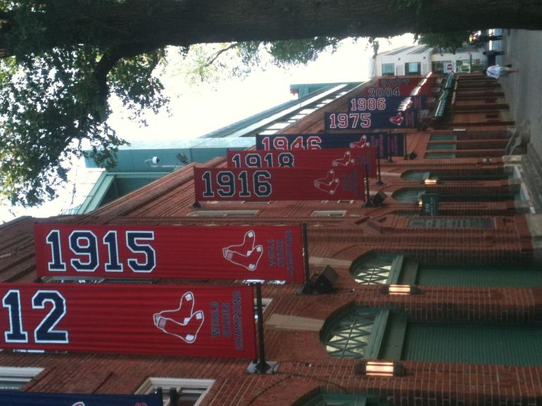 Championship banner row - Boston