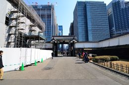 Looking down the entrance toward Tokyo, currently the guard building is being renovated, it will add to the tour when completed. , John L - February 2015