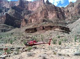 Helicopter that delivered us to the bottom of the canyon , Frank L - August 2012