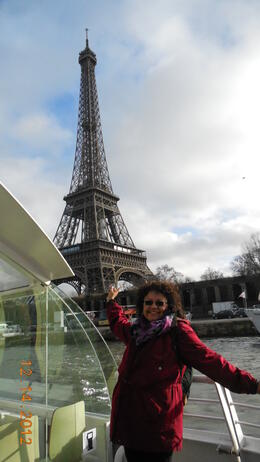 The boat ride to the Eiffel Tower...it was magical moment captured! , Raquel - December 2012