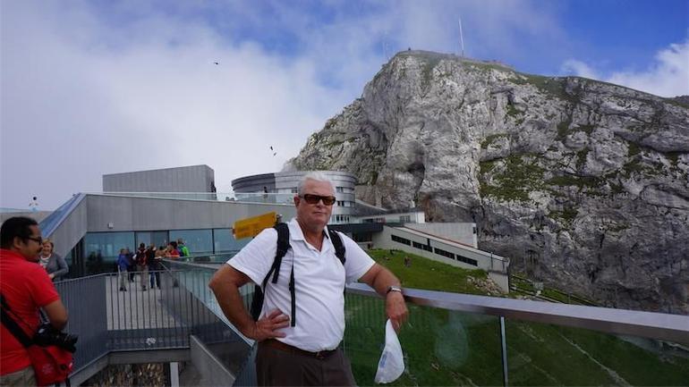 Me atop Mount Pilatus - Zurich