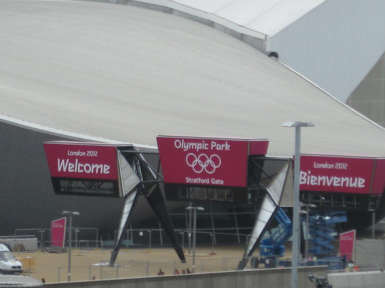 Olympic park as seen fron the Stradford Mall -