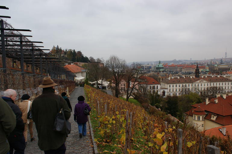on our way down for lunch - Prague