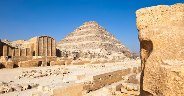 Pyramid of Pharaoh Zoser (Djoser), Saqqara - Cairo