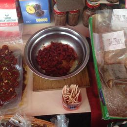 Sundried tomatoes that one of the stall holders allowed us to taste. , Kim F - August 2016