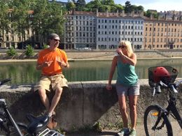 Our guide sharing Lyon history , Lee Ann S - July 2016