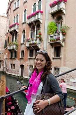 and quot;many tourists explore the canal by gondola and quot; , gretel - July 2013