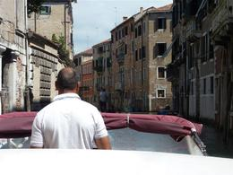 View of Venice from the Airport taxi , MR M H S - August 2011