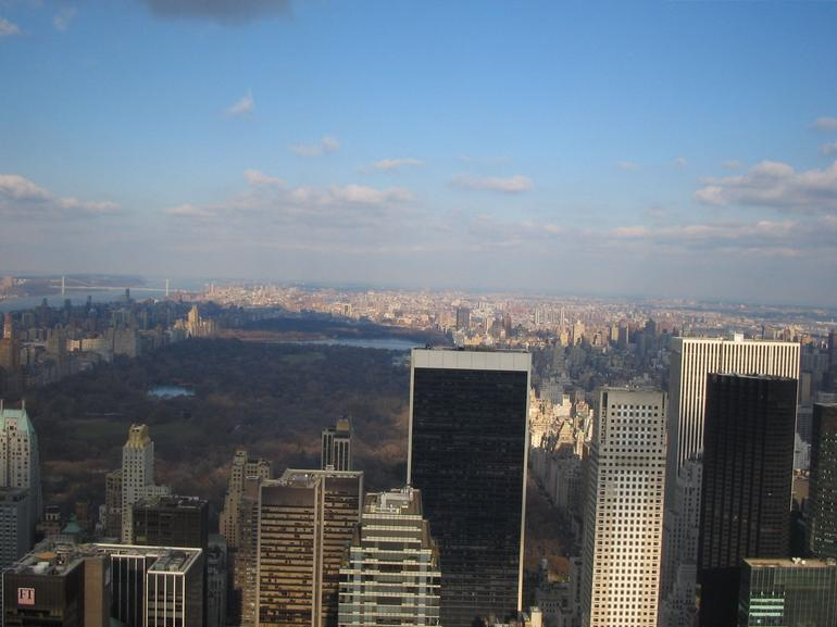 View from the back of the Top of the Rock - New York City