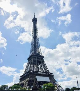 View of the Eiffel Tower from the boat we took down the Seine. , Simone G - August 2017