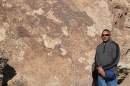 Me in front of ancient drawings , Ra-Shamel S - January 2018