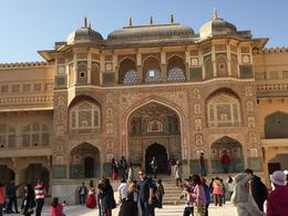 Main entrance of the palace in Amber Fort , Nur Hanani I - February 2018