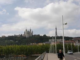 Looking across the river up at the Basilique Notre Dame de Fourvière., Tighthead Prop - September 2010