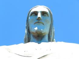 A close up picture of Christ The Redeemer., Ariel V - February 2010