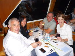 This was our first meeting with this couple and I am sure it will not be the last. They live in the UK we are from Australia. We both booked the same window seat, but they got it. We ending up..., SAB - September 2014