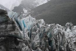 The front edge of Fox Glacier. , Sambo - January 2011