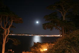 Moonlight over the city from Alcatraz , Celia H - October 2012