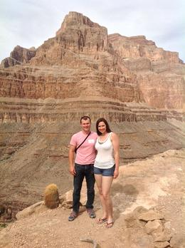 This was taken after landing in the Grand Canyon for our Champagne Picnic Lunch , Alana T - October 2013