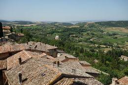 Montepulciano scenery , Heidi - July 2016