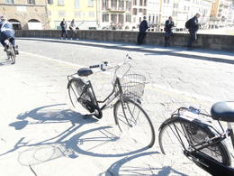 The fantastic bikes we used for the ride in Florence , Caroline - March 2011