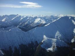The beauty of the Southern Alps just extended on forever. This was on our flight back from Milford Sound., Monica M - August 2010