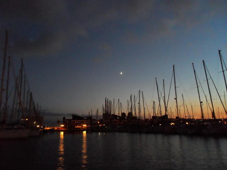 Sunset in the port at Barcelona - Barcelona