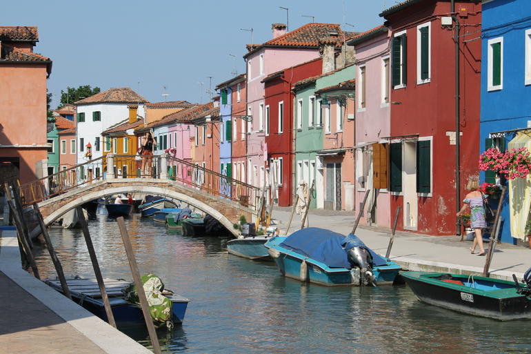 Beautiful Canal on Burano - Venice