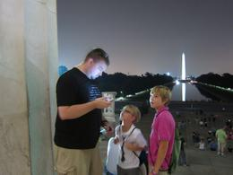 Clay Josh and Adam check out their photos! Tricky night time lighting! , Kathleen W - August 2014