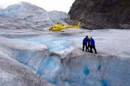 Family visit to a glacier , wow ! Pilot hopped across to get this photo for us, spectacular. , Peter D - August 2016