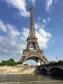 View of the Eiffel Tower from the river. , Luis G - June 2016