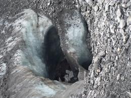 Glacier under the rocks retracting , cassiekroo - October 2016