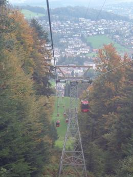 Gondola ride uphill to Mount Pilatus., Bosede S - October 2007