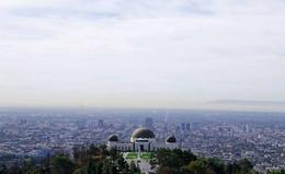 View of Griffith Observatory from within the park , Moky - October 2016
