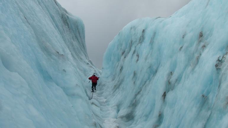 Guide leading the way - Franz Josef & Fox Glacier