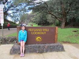 Nuuanu pali lookout , anette - January 2012