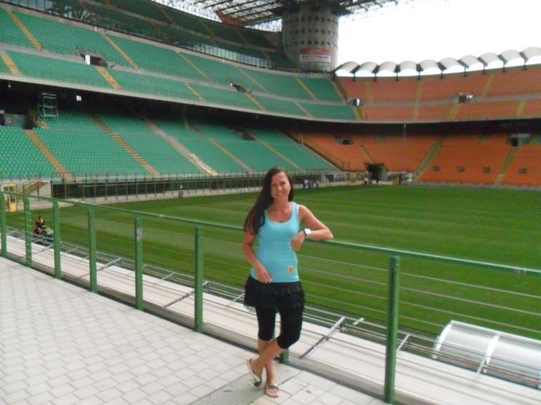 Jana and San Siro Stadium - Milan