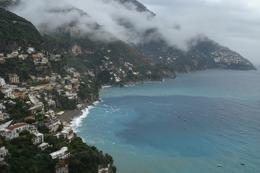 Taken from one of the guide's suggestions of a panoramic view of Positano where we had lunch. Beautiful even after the rain., Brian M - October 2010