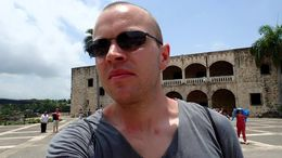 Me in front of the Colombus House , Allan - September 2015