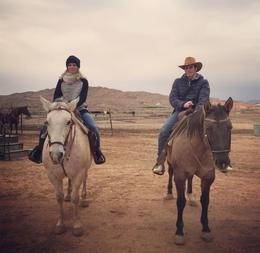 Just a few minutes on horses and we already feel like cowboy and cowgirl , Christian S - January 2017