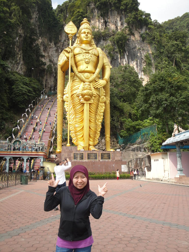 after i finished climbing the 272 steps of stairs.. - Kuala Lumpur